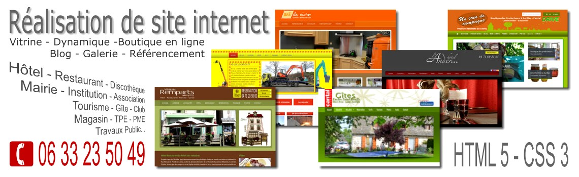 Création Web Site Iinternet